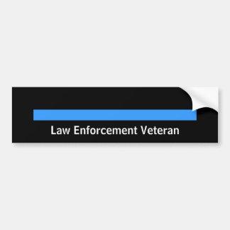 Pensionierte Polizei-Sheriff-Gesetzesvollstreckung Autoaufkleber