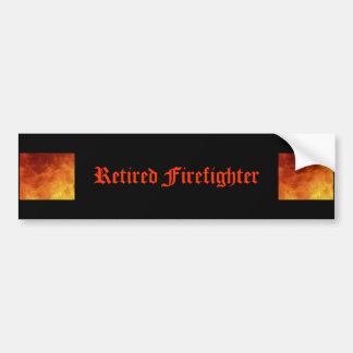 Pensionierter Feuerwehrmann-Autoaufkleber Autoaufkleber