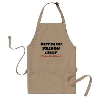 Pensionierter Gefängnis-Koch Schürze