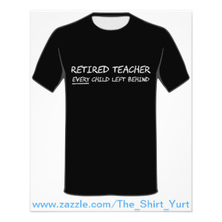 Pensionierter Lehrer JEDES Kind hinten verlassen 11,4 X 14,2 Cm Flyer