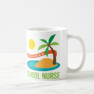 Pensionierter Schulkrankenschwester-Strand Kaffeetasse