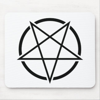 Pentagram_01_black.png Mousepad