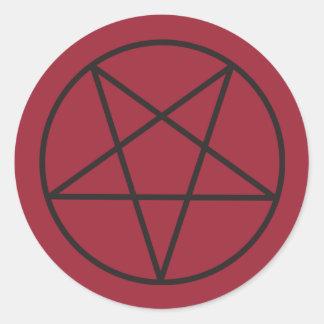 Pentagram-Aufkleber Runder Aufkleber