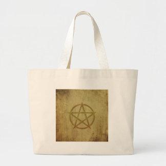 Pentagram gemasert jumbo stoffbeutel