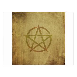 Pentagram gemasert postkarte