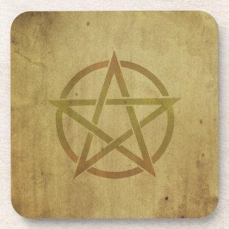 Pentagram gemasert untersetzer