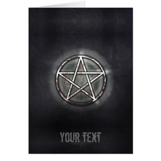 Pentagram Grußkarte