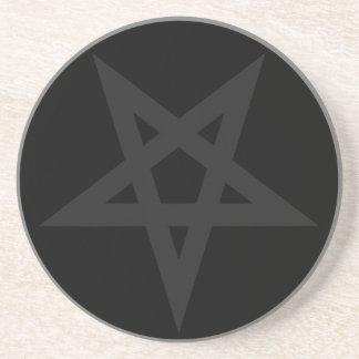 Pentagram Sandstein Untersetzer