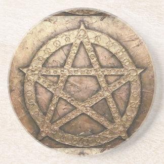 Pentagram von Schutzen Getränkeuntersetzer