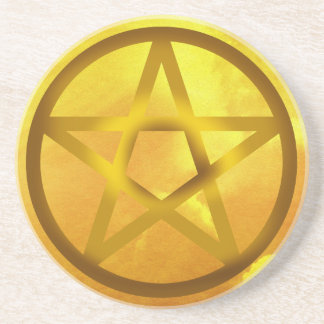 Pentagramm - Luft Getränkeuntersetzer