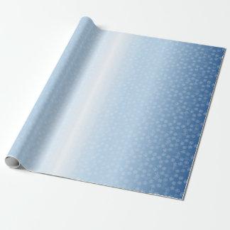Pentagramm-Schnee-Feldmuster Geschenkpapierrolle