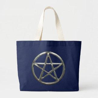 Pentagramm-Taschen-Tasche Jumbo Stoffbeutel