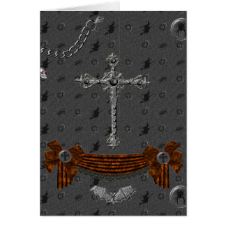 Pentagramme und Hexen Halloween Karte