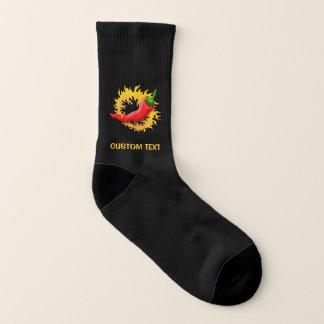 Peperoni mit Flamme Socken
