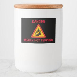 Peperonigefahrenzeichen Lebensmitteletikett