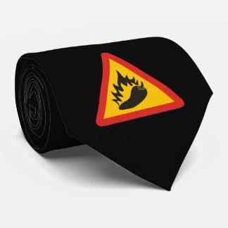 Peperonigefahrenzeichen Personalisierte Krawatte