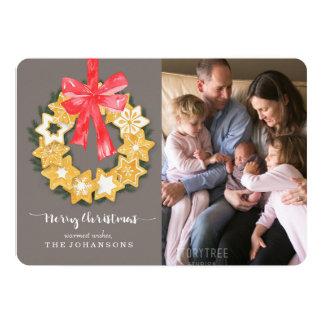 Pepparkakor WeihnachtsFoto 12,7 X 17,8 Cm Einladungskarte