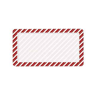 Peppermint Candy Cane Stripe Address Labels Adressaufkleber
