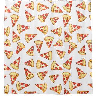 Pepperoni-Pizza, die Muster-Duschvorhang zeichnet Duschvorhang