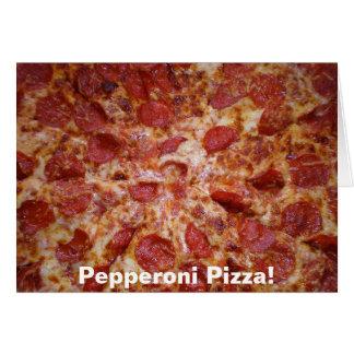Pepperoni-Pizza-Karte Karte