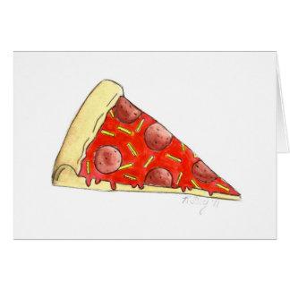 Pepperoni-Pizza-Scheibe-Karte New York City NYC Karte