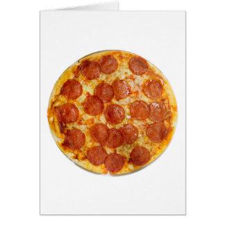 Pepperonis und Käsepizza Karte