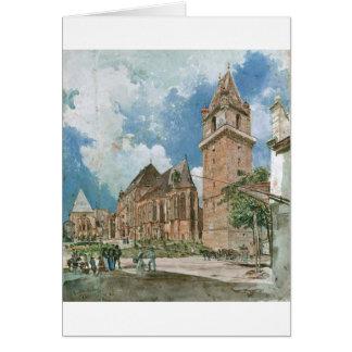 Perchtoldsdorf durch Rudolf von Alt Grußkarte