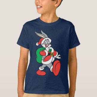 ™ Père Noël de BUGS BUNNY marchant heureusement T-shirt