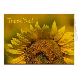 Perfekte gelbe Sonnenblume Karte