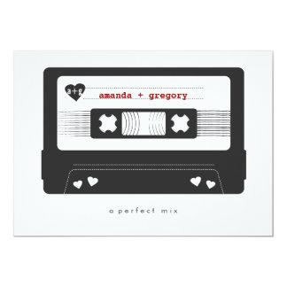 Perfekte Mischung - Mischungs-Band-Save the Date 12,7 X 17,8 Cm Einladungskarte