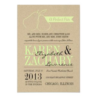 Perfekte Paar-Hochzeits-Einladung Karte