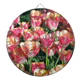 Perfekte Rosa-und Pfirsich-Tulpen Dartscheibe
