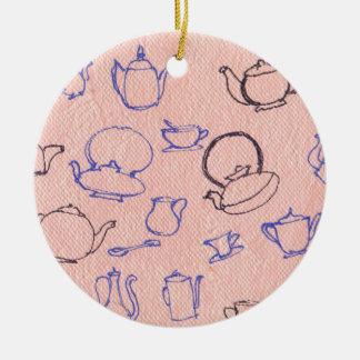 Perfekte Tage Rundes Keramik Ornament