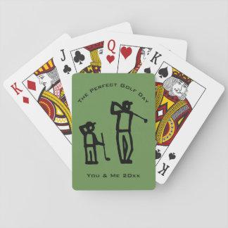 Perfekter Golf-Tag Spielkarten