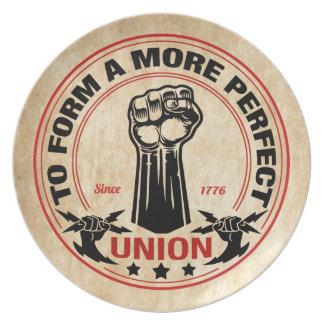 Perfektere Gewerkschaft 1016 Melaminteller