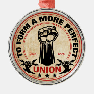 Perfektere Gewerkschaft 1016 Rundes Silberfarbenes Ornament