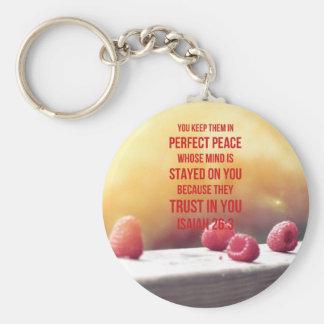 Perfektes Friedensjesaja-26:3 Schlüsselanhänger