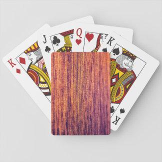Perfektes Holz Spielkarten