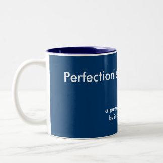 Perfektionistische Foto-Tassen-Schablone Zweifarbige Tasse