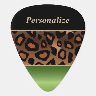 Peridot-grünes und schwarzes Jaguar | Plektrum