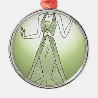 Peridot-Prinzessin Rundes Silberfarbenes Ornament
