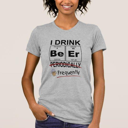 Periodische Tabellen-Bier-trinkender T - Shirt