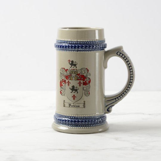 Perkins-Wappen Stein Bierglas