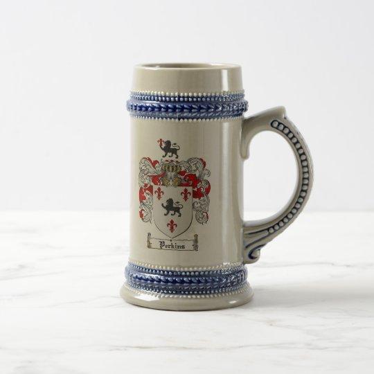 Perkins-Wappen Stein Bierkrug