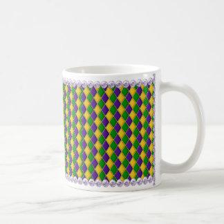 Perlen der Karneval-Harlekin-Muster-Tassen-w/Lilac Tasse