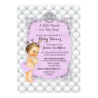 Perlen-Diamant-brünette Prinzessin Baby Lavender 12,7 X 17,8 Cm Einladungskarte