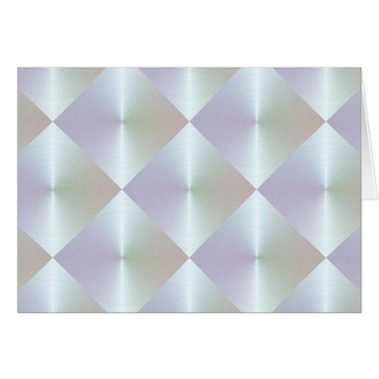 Perlen-Diamant-Fliesen-Muster Mitteilungskarte