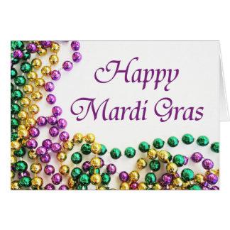 Perlen-glückliche Karneval-Karten Karte