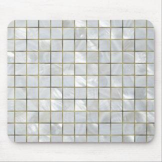 Perlmuttmosaik mit Goldfolien-Gitter Mousepad