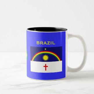 Pernambuco Brasilien Wappen und Flaggen-Tasse Zweifarbige Tasse